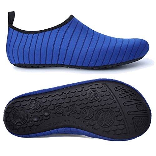 Hombres Calcetines Barefoot Piel Agua Azul de de Zapatos Secado del Adulto rápido Aqua Yoga COMVIP pBdwUp