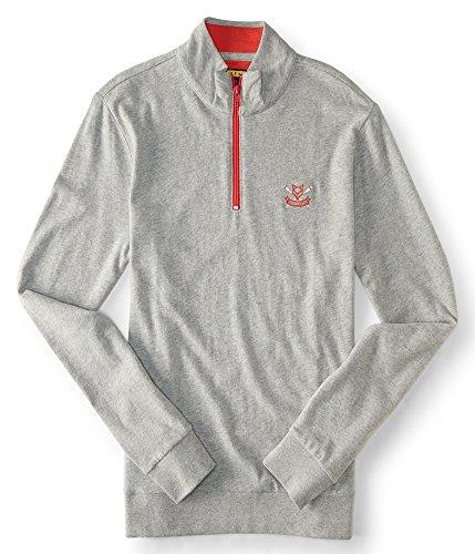 aeropostale-mens-prince-fox-logo-quarter-zip-pullover-top-l-light-heather-gre