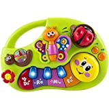 WolVol Toddler Toy Piano Keyboard Educational Infant Toy Activity Center, Music and Lights, Animal Sounds and Story