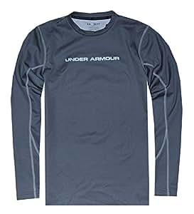 Under Armour Men's ColdGear® Thermo Hi Crew Shirt (XX-Large, Grey/White (043))