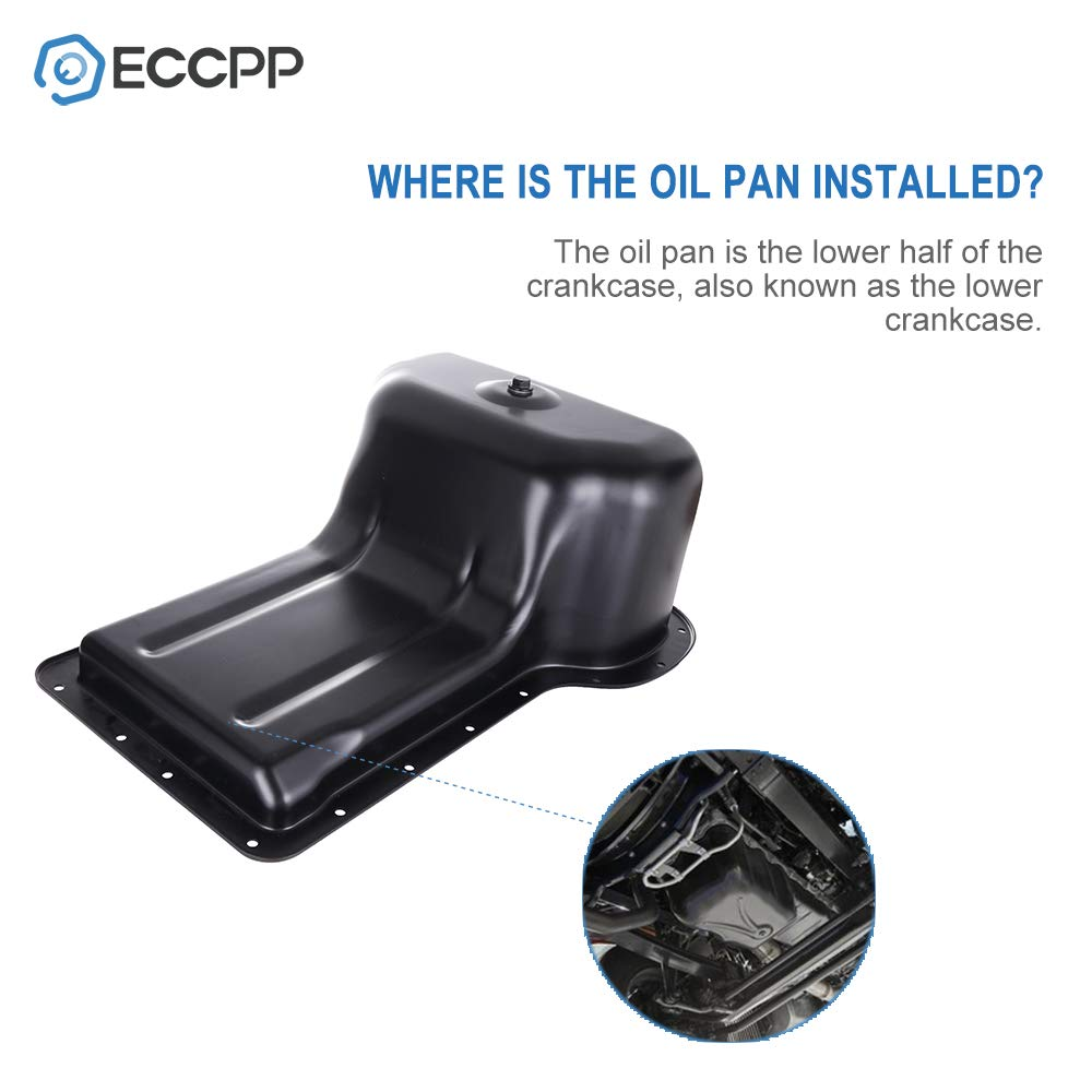 ECCPP Engine Oil Pan Drain Plug Kit fit for 2003 2004 2005 2006 2007 2008 2009 2010 Ford Excursion F250 F350 F450 F550 V8 6.0L 6.4L Cummins Diesel Compatible with 264-046