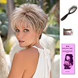 Roni by Noriko, Wig Galaxy Hair Loss Booklet, Wig Cap, & Loop Brush (Bundle - 4 Items), Color Chosen: Harvest Gold