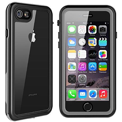 (Singdo iPhone 7 Waterproof Case, iPhone 8 Waterproof Case, Shockproof Cover Built in Screen Protector Full Body Dustproof Underwater Case for iPhone 7/8 (4.7inch))