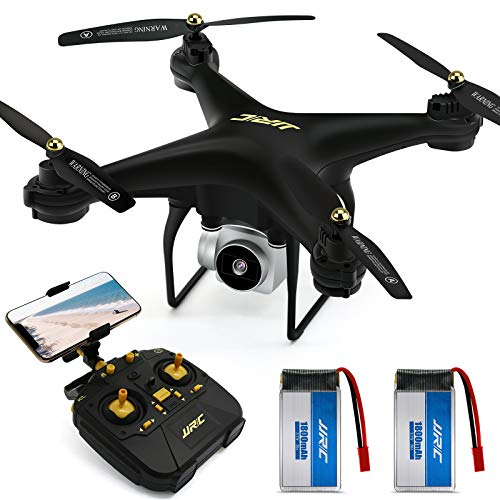 JJRC Drone with Camera for Adults, 20+20 MINS Longer Flight Time Drone with 720P Camera FPV WiFi RC Quadcopter with…