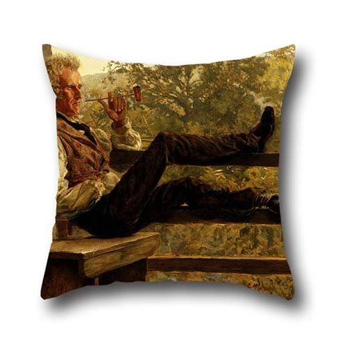 Oil Painting Frank Blackwell Mayer - Independence (Squire Jack Porter) Pillowcover 18 X 18 Inches / 45 By 45 Cm Best Choice For Birthday,valentine,home Theater,outdoor,indoor With Both Sides
