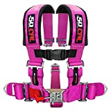 5 point harness pink - 50 Caliber Racing Pink 5 Point Harness with 3