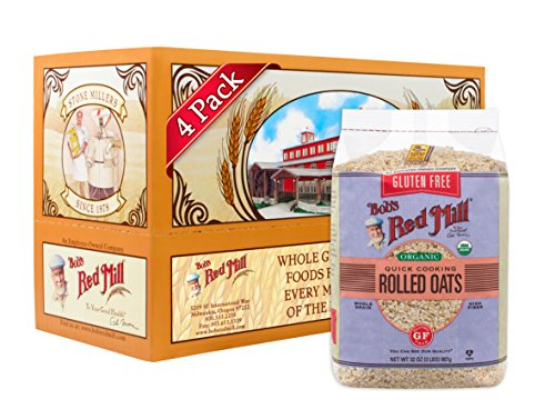 Bob's Red Mill Gluten Free Organic Quick Cooking Oats, 32-ounce (Pack of 4)