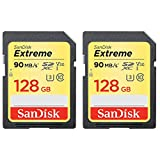 SanDisk 2 Pack of 128GB Extreme SD Memory UHS-I Card (SDSDXVF-128G-ANCIN)