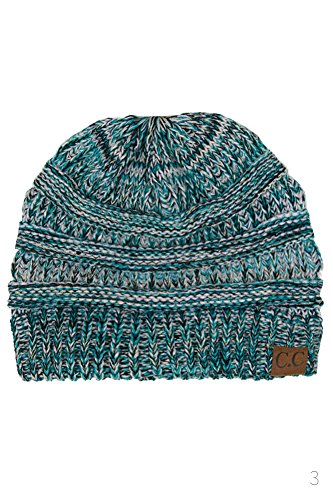 - ScarvesMe Unisex Three Tone CC Beanie Winter Hand Knit Beanie Hat (3)