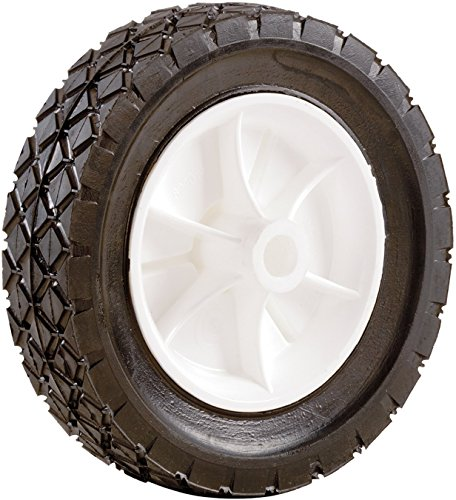 Shepherd Hardware 9613 8-Inch Semi-Pneumatic Rubber Replacement Tire, Plastic Wheel, 1-3/4-Inch Diamond Tread, 1/2-Inch Bore Offset Axle by Shepherd Hardware