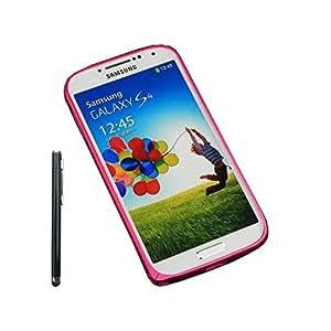 Nicelin(TM) Premium Aluminum Metal Bumper Frame Case for Samsung Galaxy S4 / I9500 with Stylus (Rose)