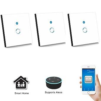 Sonoff Touch Schalter( Funktioniert mit Amazon Alexa [Echo, Echo Dot] und Google Home ) 1-Weg Touchscreen Lichtschalte Wasserdichter Wandschalter ...