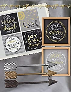 "Young's Metal Wall Friendship Arrow Decorative Sign (Set of 3), 24"" x 3.25"" x 1"""