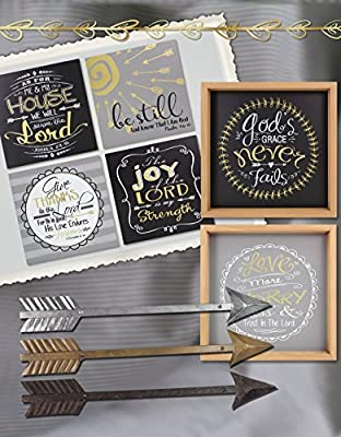 """Young's Metal Wall Friendship Arrow Decorative Sign (Set of 3), 24"""" x 3.25"""" x 1"""""""