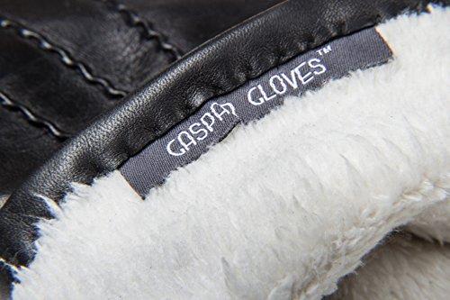 Ladies' Lined Genuine Leather Gloves (8, Black)