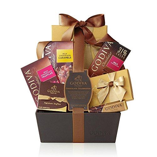 - Godiva Chocolatier Chocolate Celebration Gift Basket, Classic