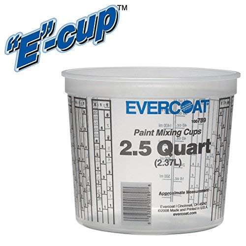 Evercoat 789 2.5 Quart Paint Mixing Cup (50 per Case), Pack by Evercoat