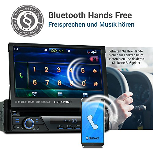 249 99 1din autoradio creatone ctn8423d26 mit gps navigation bluetooth dvdplayer touchscreen. Black Bedroom Furniture Sets. Home Design Ideas