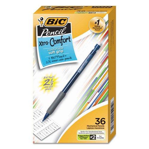 Grip Stic Bic Round Pencil - BIC Xtra-Comfort Mechanical Pencil, Medium Point (0.7mm), 36 Count