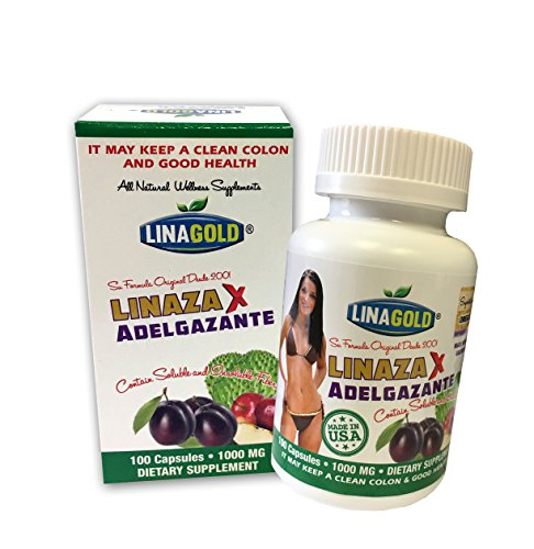 Linaza Adelgazante Flaxseed Slimming Dietary Supplement Capsules (100 qty)