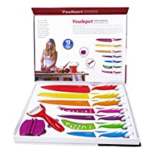 Youdepot Professional Kitchen Best Knife Set, Stainless Steel Knife Sets, Super Easy Clean Modern Blades, Nice Non-Stick Cutlery- 9 Pieces With Premium Gift Box