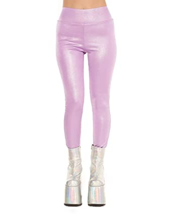 0476cd0f8fa2d iHeartRaves Women's High Waisted Leggings - Shiny Pants for Raves ...