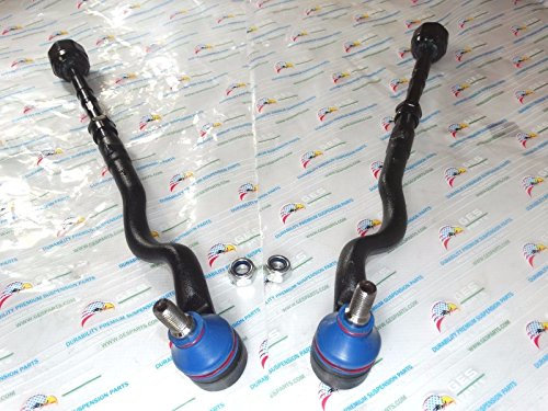 2 NEW Front Tie Rod Ends Inner & Outer Assembly E46 325i 323i 328i 330i (E46 Tie Rod Assembly)
