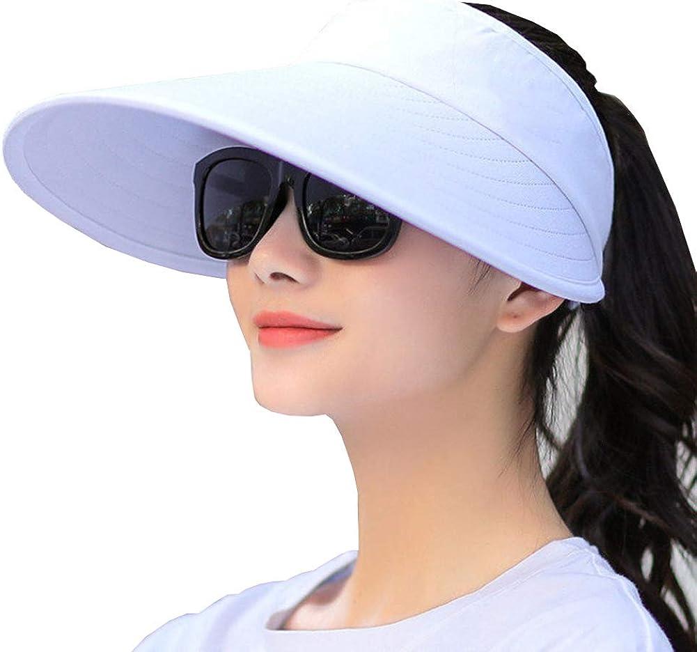 Sun Visor Hats Women Large Brim Summer UV Protection Beach Cap