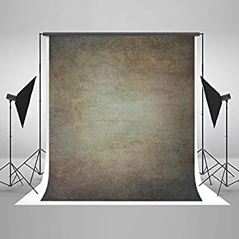 Image of Backgrounds 10ft(W) x10ft(H) Brown Orange Portrait Photo Backdrop Muslin Studio Abstract Grunge Background Gradient Photo Studio Booth Props for Photography Seamless Free Wrinkles
