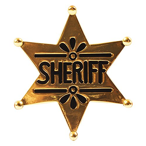 [Sheriff Badge - Gold Western Police Badges Costume Accessory Funny Party Hats] (Womens Western Costumes)