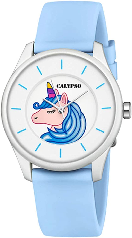 Calypso Reloj niño/a - Sweet Time K5733/C - Unicornio - Blanco y Azul