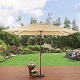Better Homes and Gardens. Aluminum Solar Lighted Patio Umbrella