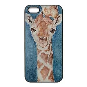 Watercolor giraffe Custom Case for iPhone 5,5G,5S,personalized Watercolor giraffe Phone Case