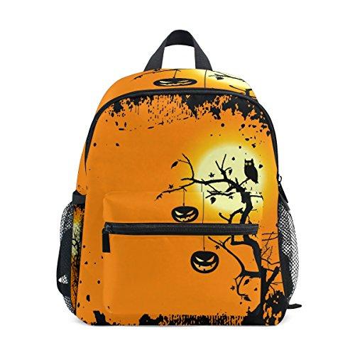 LORVIES Halloween Mini Kids Backpack Pre-School Kindergarten Toddler Bag]()