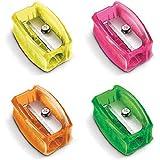 Apontador sem Deposito Simples, Faber Castell, 100FLVDIZF, Multicor