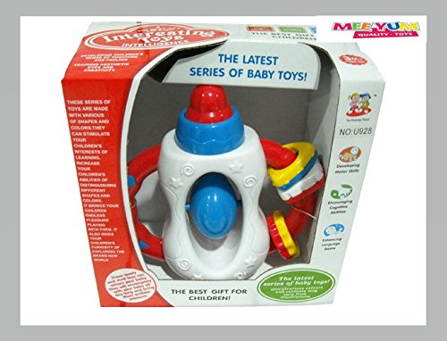 MeeYum Infant Baby Toys Bottle Shaped Fun Colorful Interactive Baby Rattle Portable
