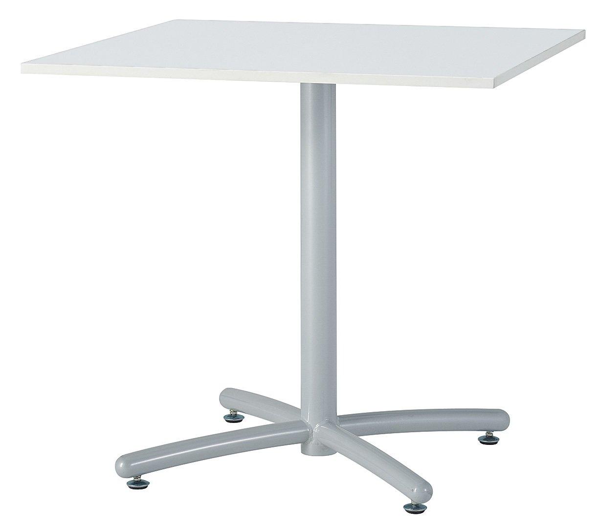 UTS-S750K テーブル ミーティングテーブル 会議用テーブル W750*D750*H700mm 750角天板 [3色から選べる天板] 天板:16mm厚 脚:シルバー 天板カラー:ホワイト(WH) B00JRW3XFQ 天板:ホワイト 天板:ホワイト
