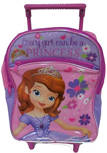 "Disney Princess Sofia Kids Rolling Backpack ""Every Girl Can Be A Princess"""