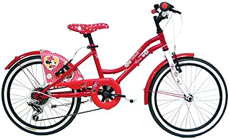 Disney-Bicicleta Infantil, diseño de Minnie Mouse, Color Rosa, 26