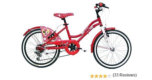 Disney-Bicicleta Infantil, diseño de Minnie Mouse, Color Rosa, 26 ...