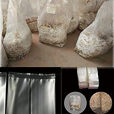 Mushroom Bags, Mushroom Grow Bag/Farm-Mushroom Spawn Bags/Sealable Spawn/Myco Bags, Large Size 8