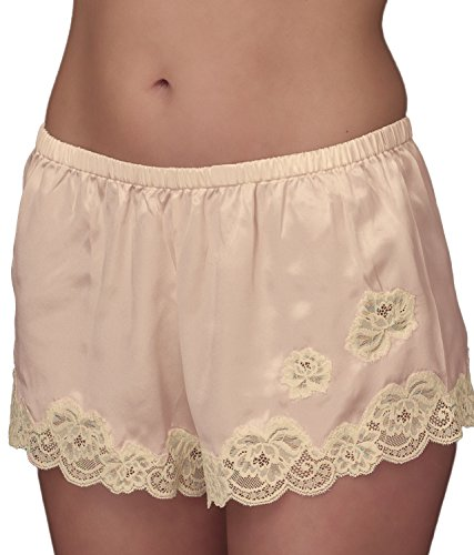 Cami Tap Pant - Julianna Rae Women's 100% Silk Tap Pant, Flattering Fit, Le Tresor Collection, Petal, S