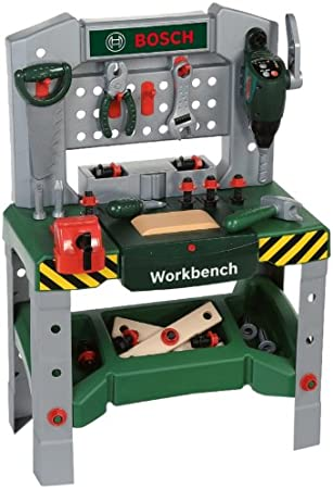 Theo Klein 8624 Bosch Werkbank Mit Sound Effects Spielzeug Amazon De Spielzeug
