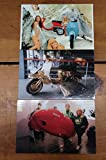Group of 3 Vintage Motor Scooter Club Lambretta Motorcycle Postcards J72763