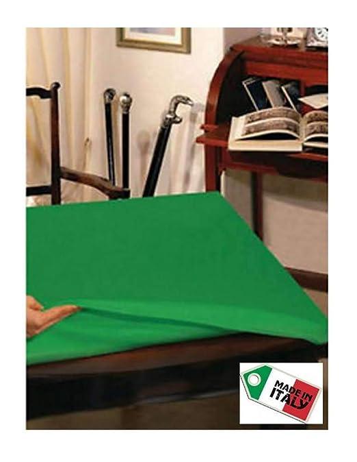 La Bottega del Ahorro Muletón Verde Protector Mesa Cuadrado 140 x ...