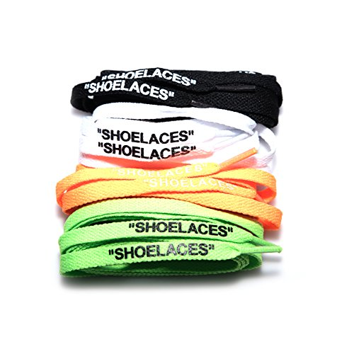 xxiii -''Shoelaces'' OFF WHITE INSPIRED Replica Shoe Laces Cotton Flat Laces Swap Font Printed Text AJ1 Jordan 1 by xxiii