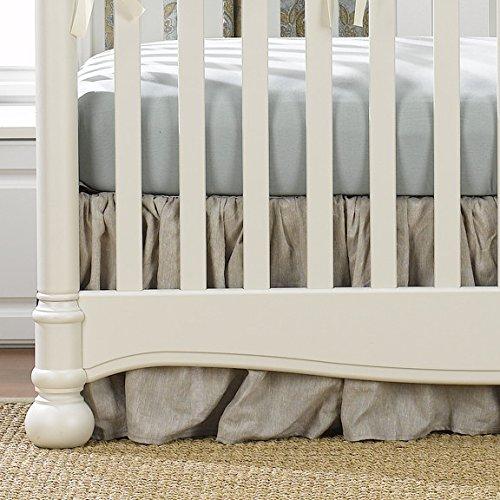 Gathered Crib Skirt - Liz and Roo Flax Linen Crib Skirt (Gathered) 16