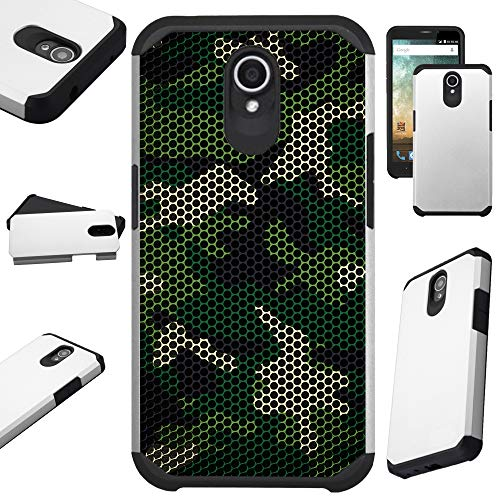 Compatible AT&T Axia (2018) Case Hybrid TPU Fusion Phone Cover (Camo Mesh ()
