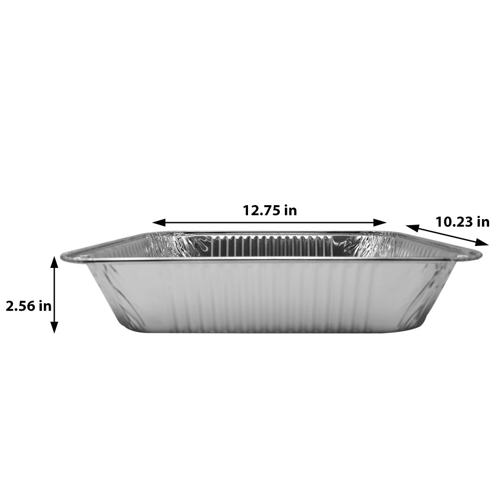 Fig and Leaf (40 Pack) Premium Chafing Pans 9'' x 13'' – Half Size Deep Pan Steam Table Pan l Top Baker's Choice Aluminum Foil for Roasting Potluck Reheating Catering Party BBQ Broiling Baking by Fig and Leaf (Image #3)