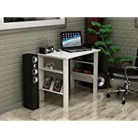 Decorotika Berta Computer Desk - Space Saving - White Color